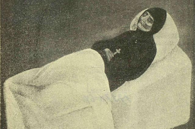 Блаженная Евфросиния на смертном одре