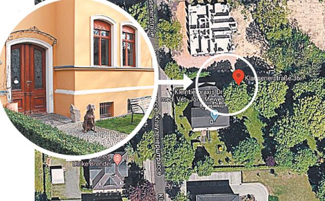 На месте бывшего захоронения Гитлера (Магдебург, ул.Клаузенерштрассе, д. 36) в наши дни находится ветклиника.
