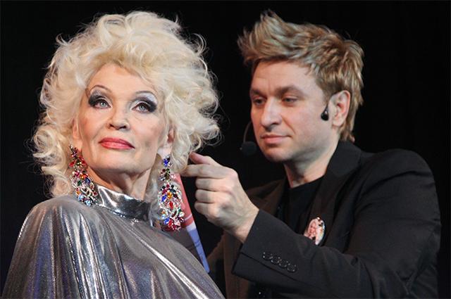 Светлана Светличная и стилист Руслан Татьянин. 2009 год.