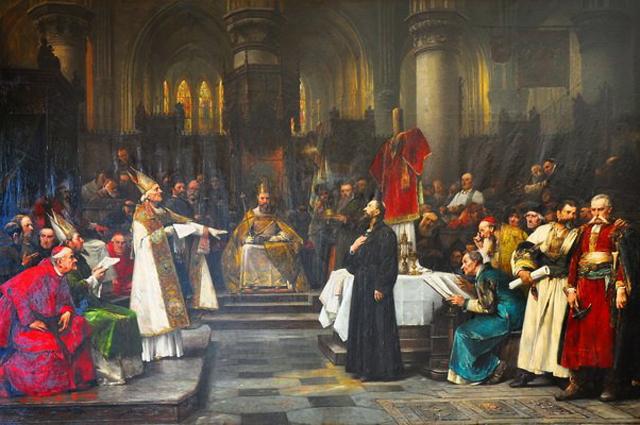Вацлав Брожик: Ян Гус на Соборе в Констанце (1883)