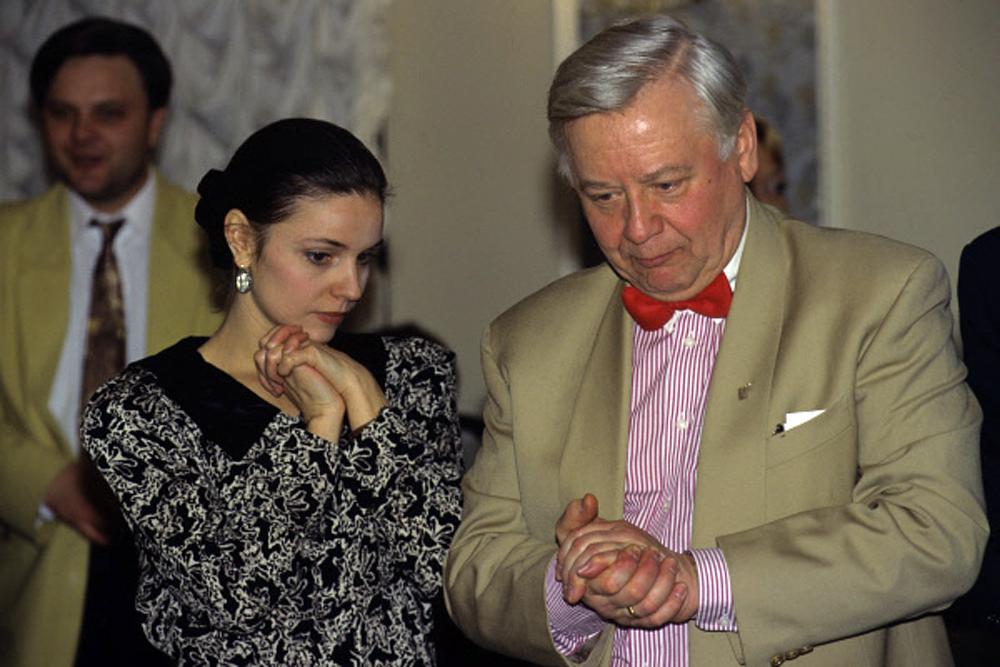 Марина Зудина и Олег Табаков. 1998 год.