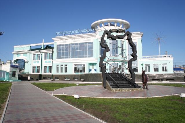 Пригородный вокзал ст. Омск.