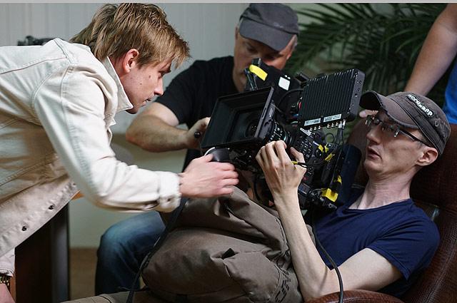 На съемках сериала «Полицейский с Рублёвки»