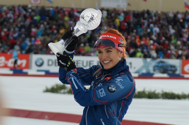 Габриэла Соукалова после гонки преследования.