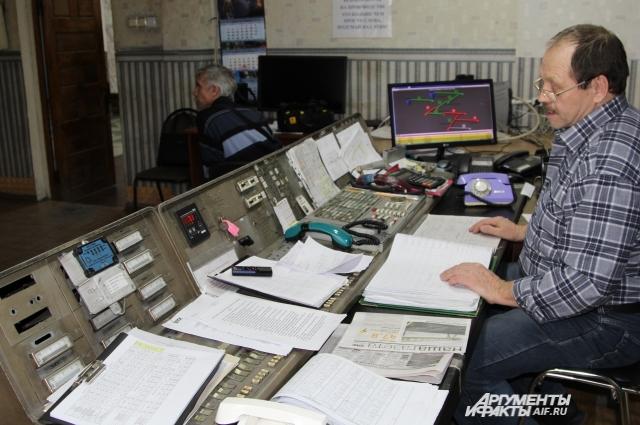 В диспетчерской шахты «Обуховская» Ростовская область.