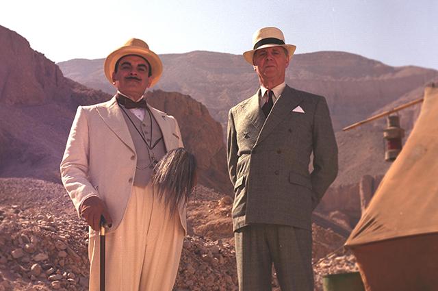 Кадр из фильма об Элькюле Пуаро.