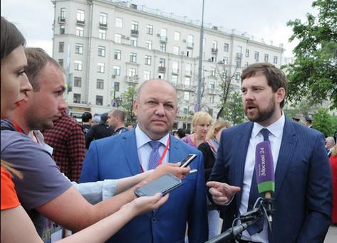 Глава ФАДН России Егор Баринов во время брифинга 12 июня