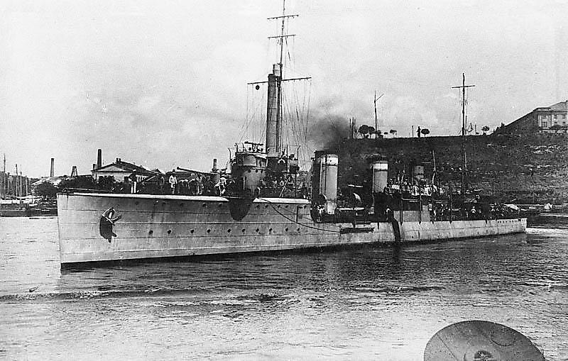 Эсминец Северного флота Громкий . Между 1913 и 1917 гг