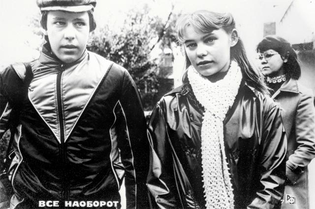 Ольга Машная и Михаил Ефремов на съемках фильма «Всё наоборот», 1981 г.