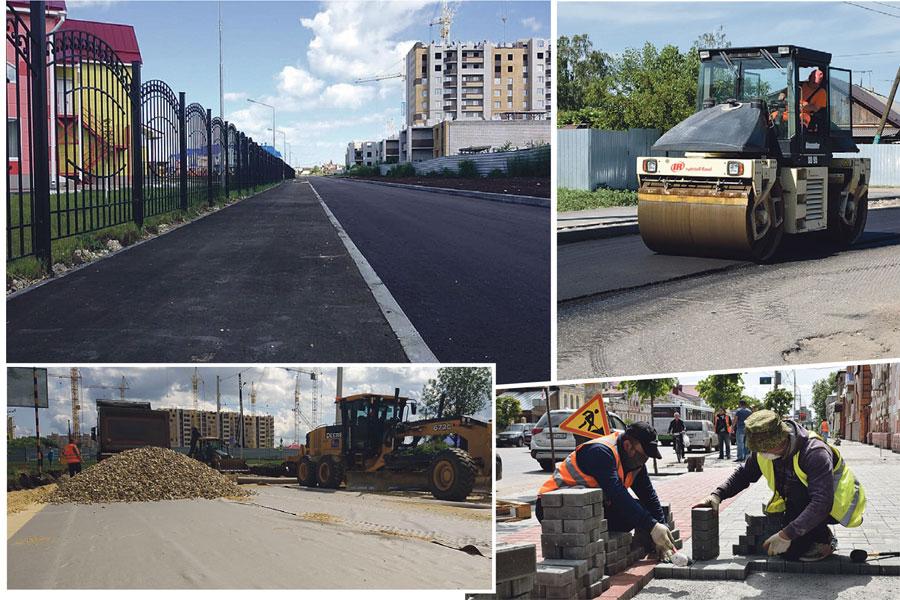 Масштабные ремонтные работы идут во всех районах города.