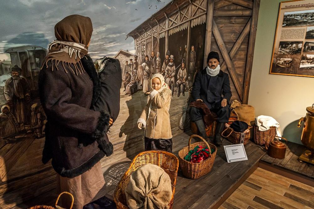 Переселенцы часто ехали целыми семьями.