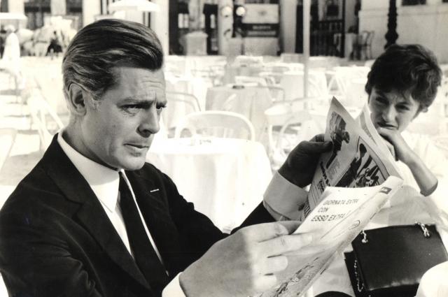 Марчелло Мастроянни и Анук Эме в фильме «8 1/2», 1963.