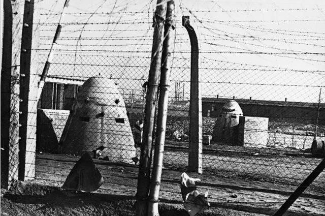 Концлагерь Освенцим. Январь 1945 года. Бронеколпаки с пулемётными гнёздами
