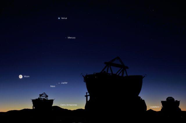 Марс и Юпитер можно будет увидеть в Созвездии Девы, а Венеру, Меркурий и Марс - в Скорпионе.