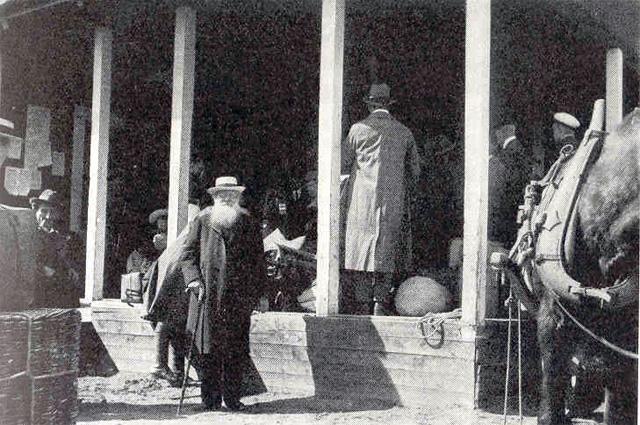 Пётр Алексеевич Кропоткин проездом в Хапаранде, Швеция, 1917 год
