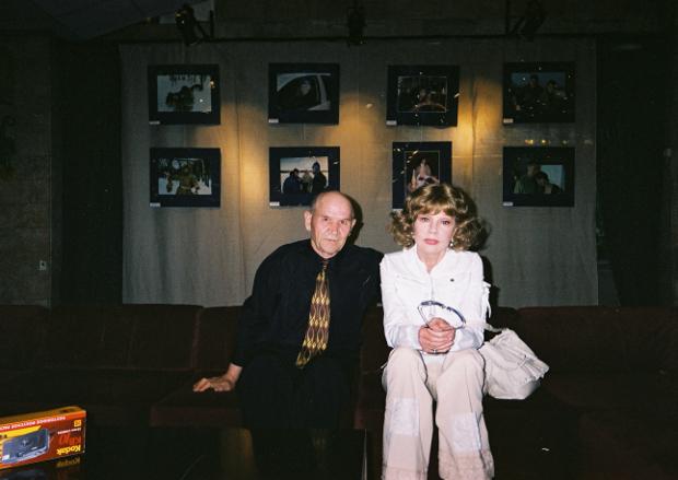 Борис Краснопёров и Людмила Гурченко во время съёмок фильма о Сергее Герасимове