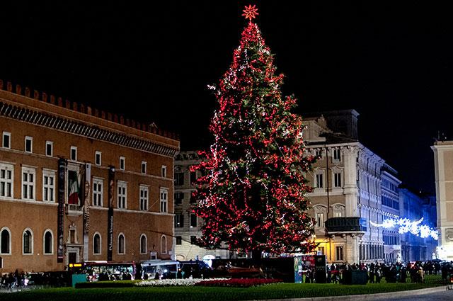 Ёлка в Риме, 23 декабря 2018 г.