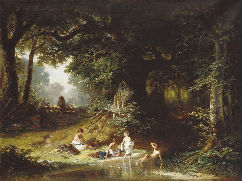 Александр Бейдеман. Дети у ручья.
