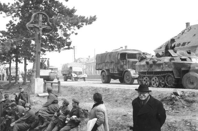 Отступление германских войск из Венгрии.