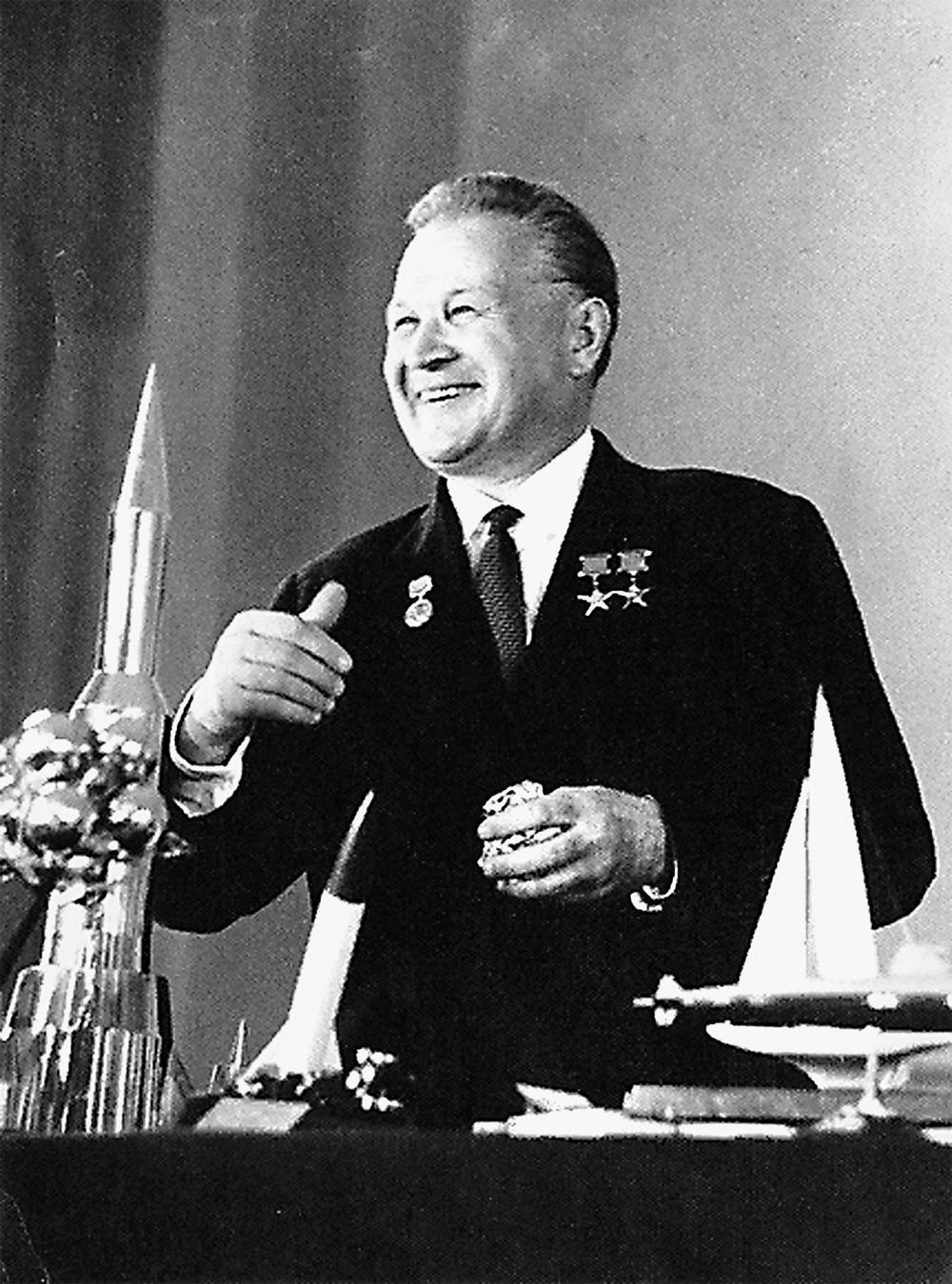 Советский конструктор ракетно-космической техники, академик АН СССР Владимир Челомей.