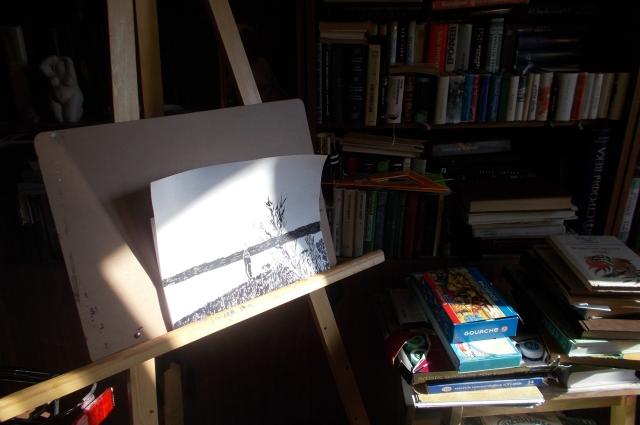Дома у Владимира Батлуцкого есть отдельная мастерская для творчества.