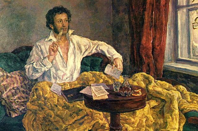 Петр Кончаловский. «Пушкин в Михайловском»