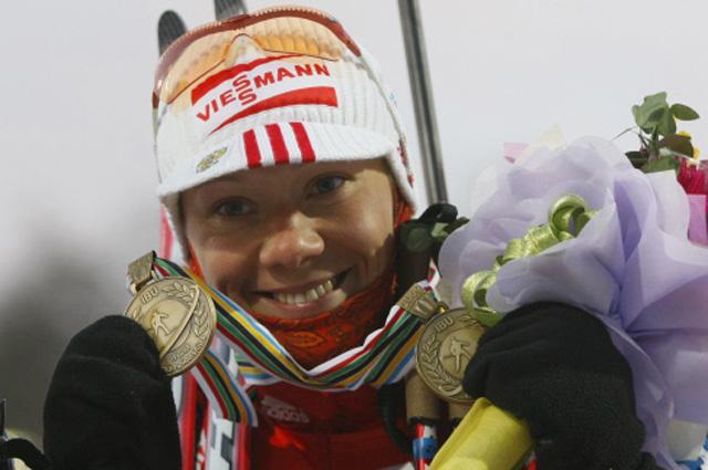 Чемпионат мира по биатлону 2009 года. Ольга Зайцева завоевала две бронзовые медали