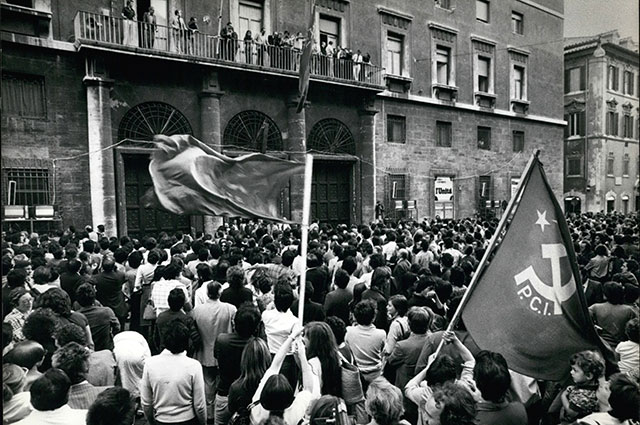 Коммунисты Италии после успеха на выборах 1972 года.