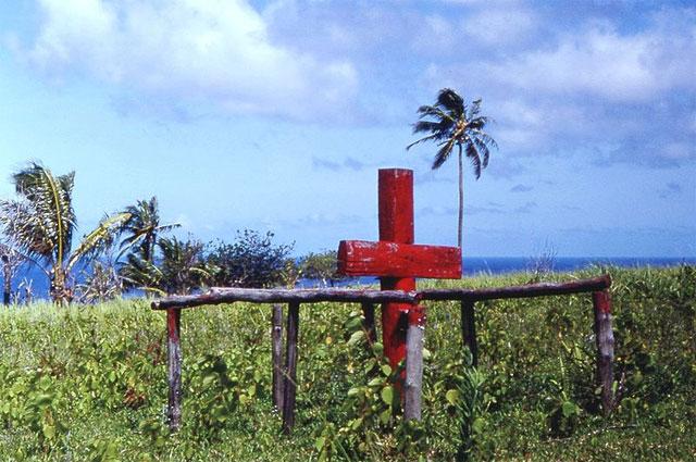 Церемониальный крест культа карго Джона Фрума, остров Танна, Новые Гебриды (теперь Вануату), 1967 г