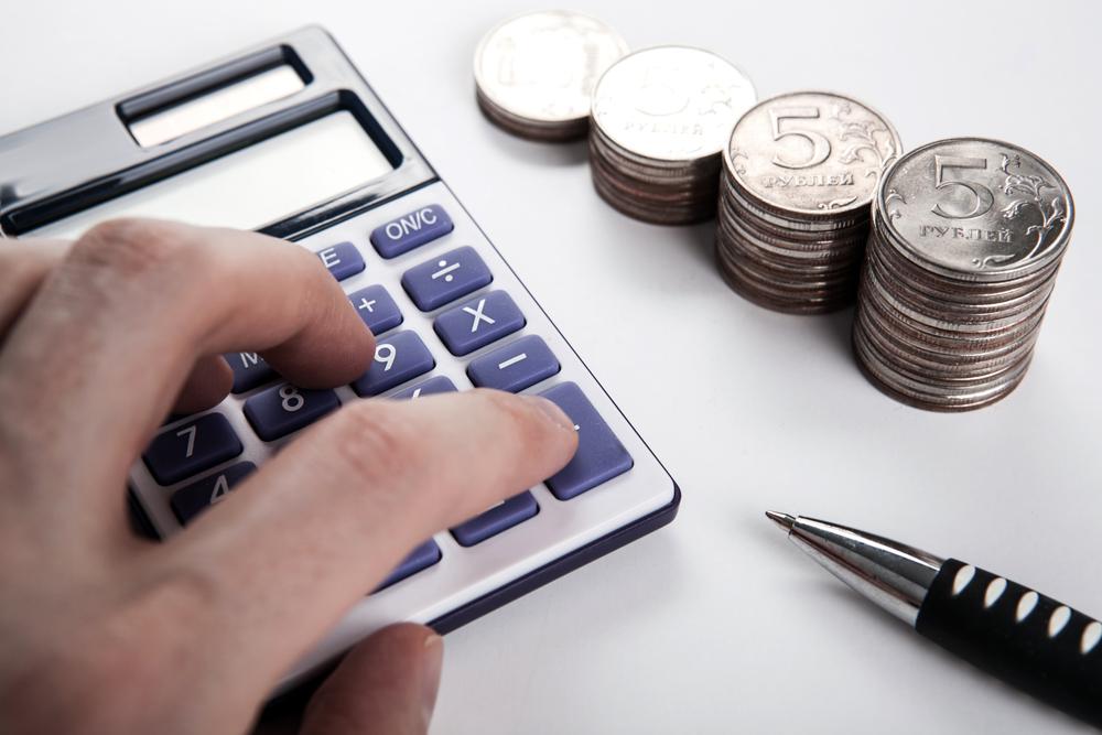 деньги, рубли, калькулятор