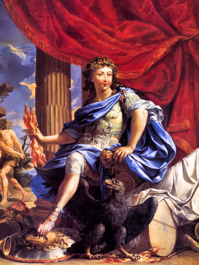 Людовик XIV в образе бога Юпитера. 1655 год.