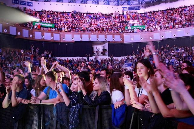 За время концерта количество пользователей в сети «МегаФона» выросло в 3 раза по сравнению с обычным днем.