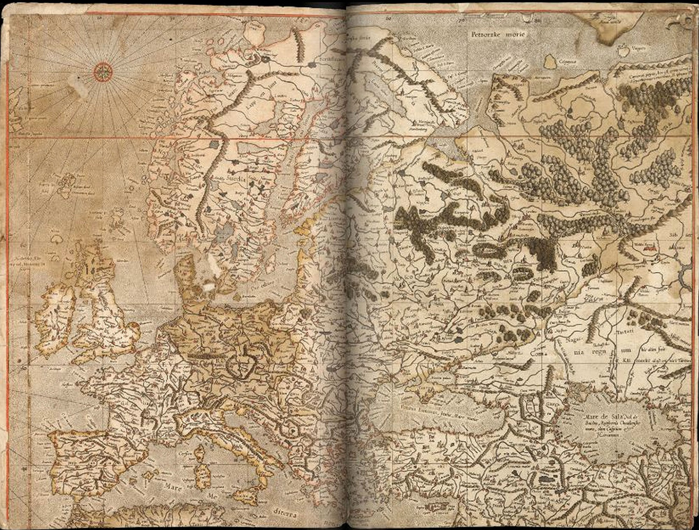 Карта Европы работы Меркатора.