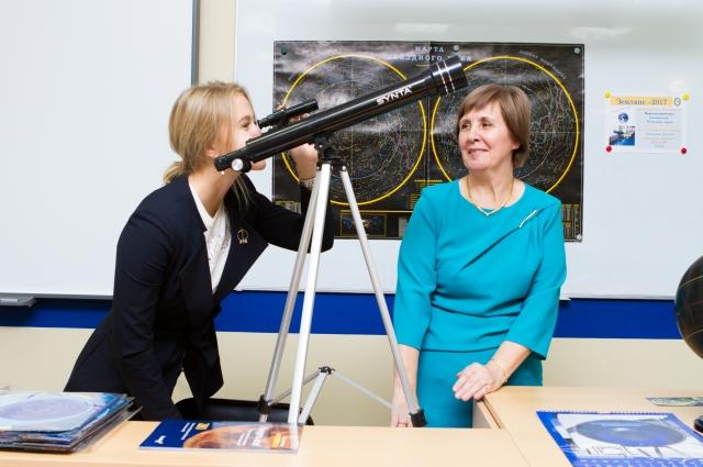 Благодаря гранту нефтяников в гуманитарно-педагогическом лицее Ухты открылся музей астрономии и космонавтики.
