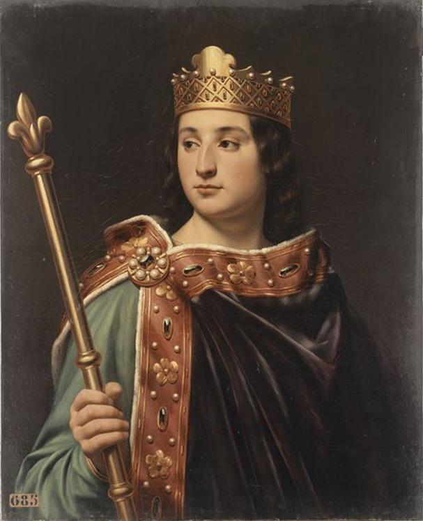 Людовик Ленивый, портрет изгалереи «Короли Франции», 1837-38гг.