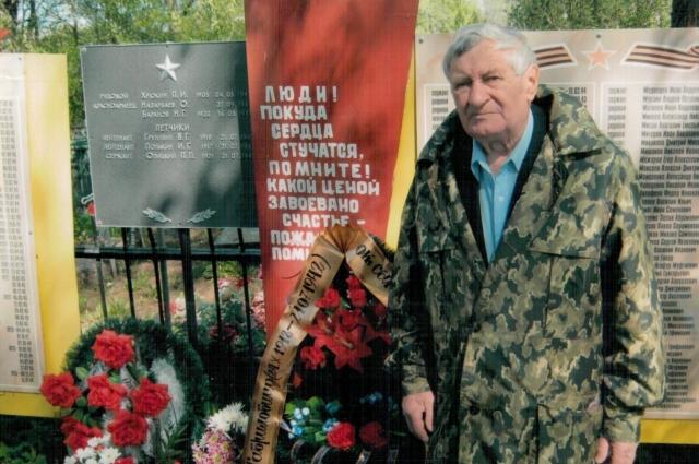 Александр Полькин на месте гибели отца в 2012 году