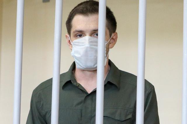 Оглашение приговора вГоловинском суде американскому студенту изТехаса Тревору Риду поделу онападении наполицейских вМоскве.