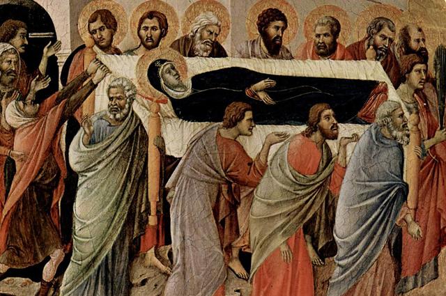 Погребение Богородицы. Дуччо (деталь алтаря)