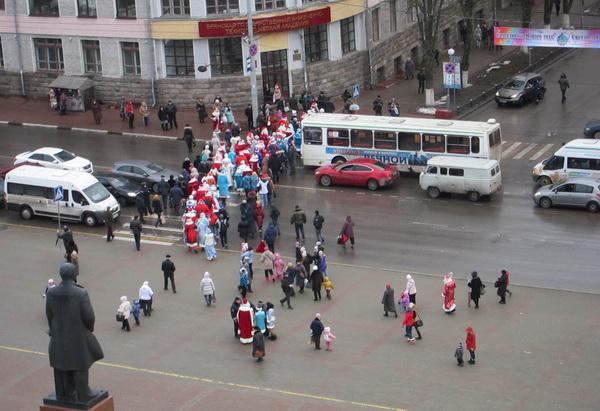 Парад Дедов Морозов в Брянске-2014