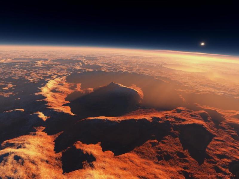 В кратере Гейла было найдено озеро