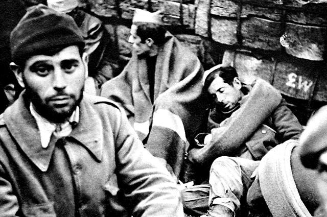 Бывшие солдаты республиканской армии во Франции