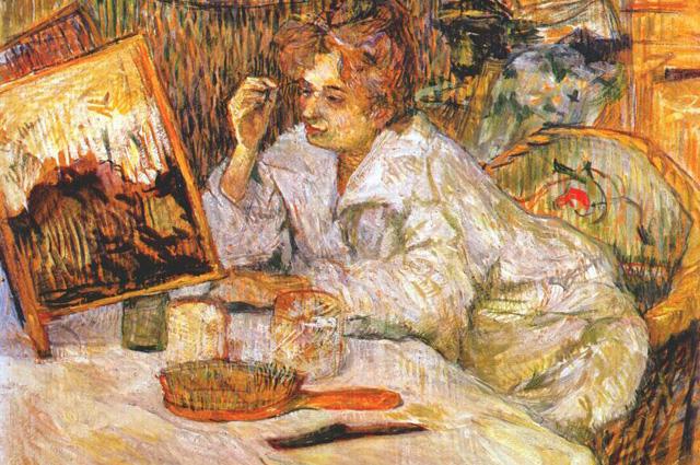 Тулуз-Лотрек. Женщина, ухаживающая за лицом. 1889 год