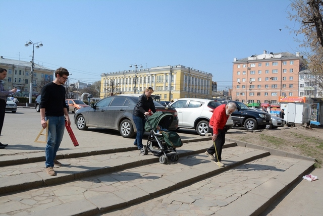 «Мемориал» проверяют, насколько в Рязани среда доступна для инвалидов.