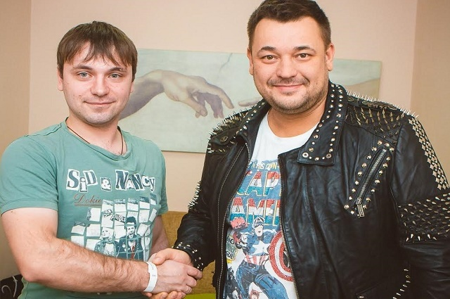 С Сергеем Жуковым.