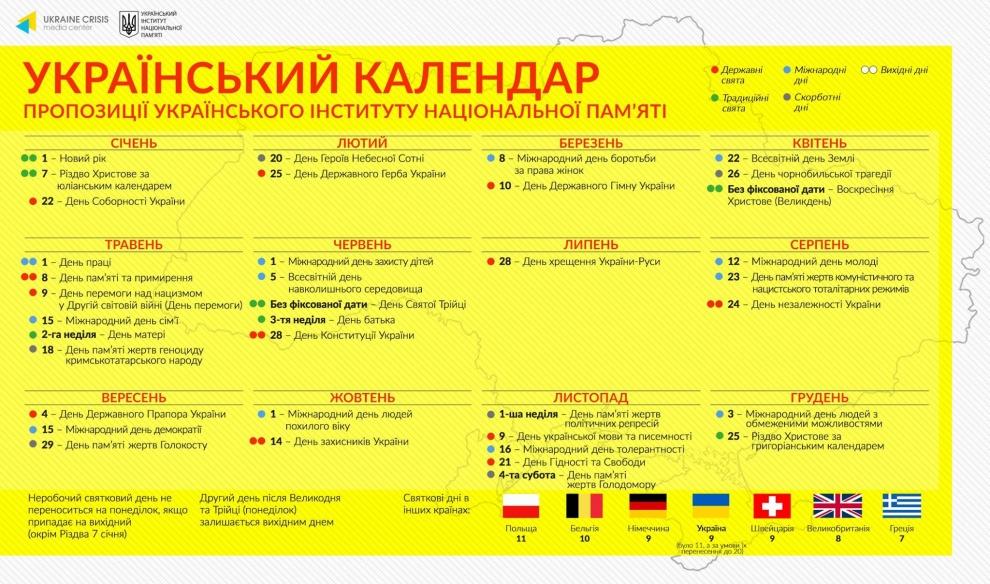 Проект нового календаря