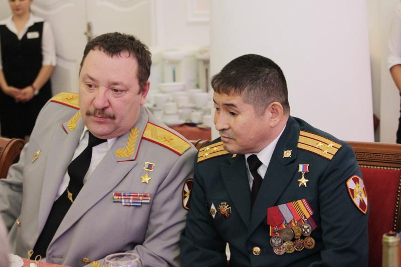 На чествовании Героев России в Кремле вместе с Сериком Султангабиевым.