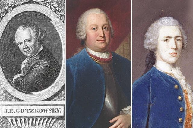 Иоганн Эрнст Гоцковский, Генрих фон Брюль и Джордж Уолпол, 3-й граф Орфорд