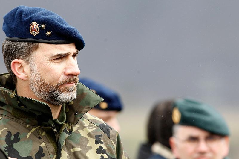 Филипп VI является командующим военно-морского флота, полковником армейского корпуса (пехотного) и командующим военно-воздушных сил
