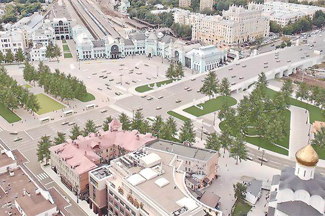 По площади Тверская Застава, когда завершится реконструкция, вновь поедут трамваи.