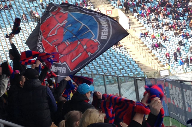 А Фанаты ЦСКА сумели насладиться футболом